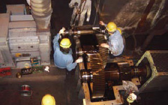 Overhaul of rolling mill reduction gears