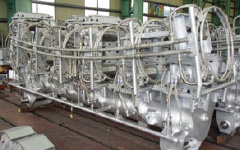 Renewal of segments for round beam blank casting plant