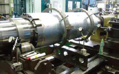 Renewal of tension reel head of ETL