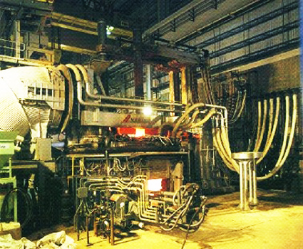electric arc furnaces which use direct reduced iron etc as the main raw ingredient need to be able to melt the raw materials which are continuously