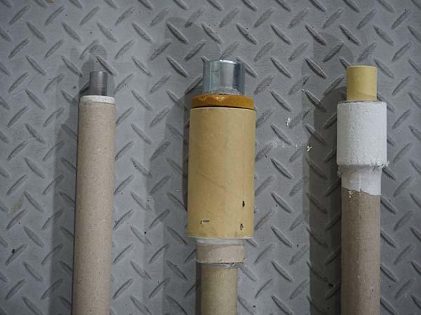 3種類のプローブ (左から)温度測定用・サンプリング用・ 酸素濃度測定用